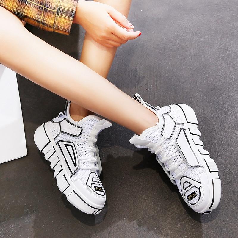 Cassé De Sport hop Marque Chaussures rouge Blanc 2018 Loisirs Hip Noir Casual Femmes Chaussures À Femme Conseil Sneakers Semelles Épaisses qP5waxwAp
