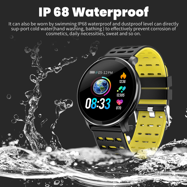 Rundoing NY03 Smart Watch IP68 waterproof Heart rate monitor Smartwatch Message reminder Fitness tracker For Android and IOS