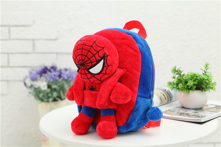 3D-The-Avengers-Plush-Backpacks-Toys-for-kids-2016-New-Ironman-Superman-Spiderman-Batman-doll-plush-schoolbag-mochila-2