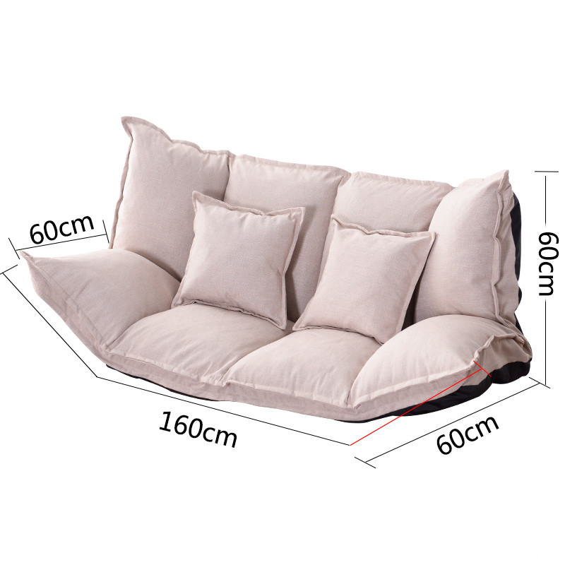Phenomenal Floor Sofa Bed Lounge Adjustable Foldable Modern Leisure Sofa Bed Video Gaming Sofa With Two Pillows For Bedroom Living Room Uwap Interior Chair Design Uwaporg