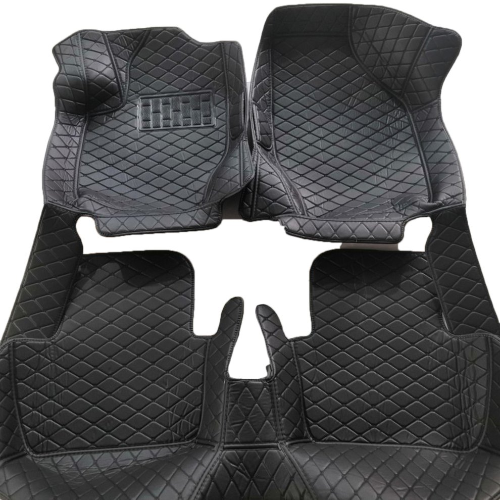 Pour Ford Ranger tapis de sol de voiture en cuir Auto tapis de sol noir Auto accessoires avant et arrière Liner tapis tapis de sol intérieur