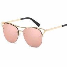 Men Women Mirror Sunglasses Fashion Glasses Cat Eye Women  sunglasses  Tinted  Lens  Shaped Sun Glasses fashion Polarized glasse