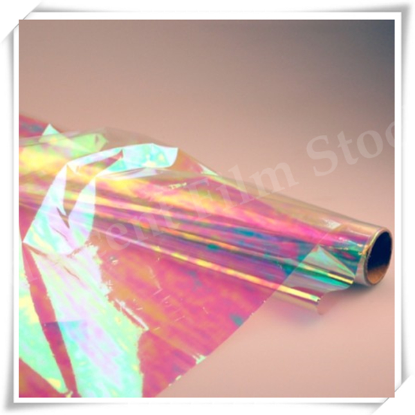 16mic JR-1665-01 Manufacturer Polyester Rainbow Film For Flowers Package Warpping&Fantasy Wings 1020mm W*100m L
