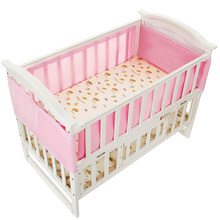 Baby Bed Bumper Infant Sleeping Safe Crib Bumper Mesh Breathable Bedding Set Summer Hot High Quality For Newborn Baby Bumper(China)
