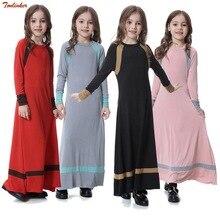 Kids Muslim Costume Girls Traditional Clothing Fashion Child baya Girl dress and abaya islamic big girl Children dresses