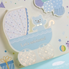 WISHMADE Baby Boy Christening Celebrate Invitation Cards Baby Shower Party Invitation Cards Birthday Cards CW5302
