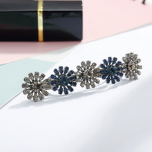 CHIMERA Crystal Hair Clips Sun Flower Alloy Barrettes Shiny Hairpin Clip Metal Ponytail Clamp Women Girls Headwear Accessories