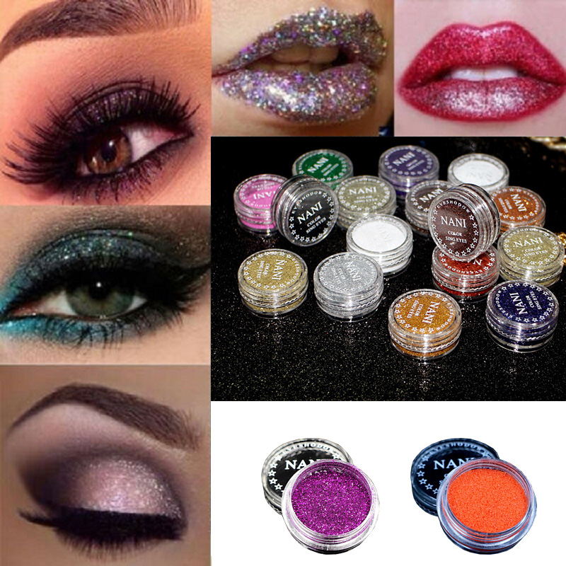 Cosmetics Eyes Lip Face Makeup Glitter Shimmer Powder Monochrome Eyes Pearl Powder Glitters Shining Make Up