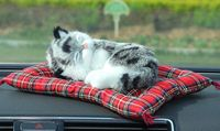 prone gray cat model air freshener charcoal bag about 22x18cm mat , car interior accessories home decoration gift a1784