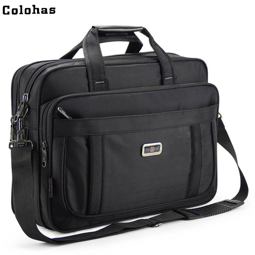 Men Business Briefcase 15 6 inch Laptop Single Shoulder Messenger Bag for Macbook Air Pro HP