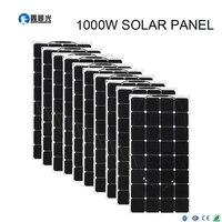 Xinpuguang 1000W flexible pet solar panels 10X 100W flexible efficient 21.3% Solar Conversion Rate module for led light car kits