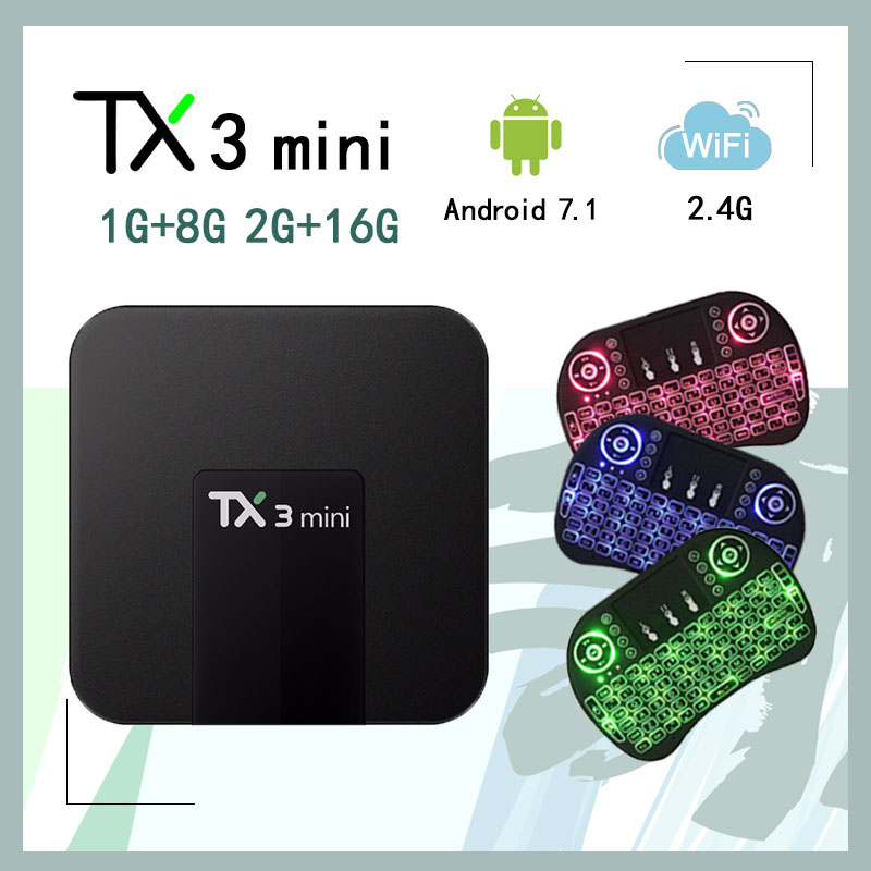 Tanix TX3 Mini TV Box Smart Set Top Box Android 7.1 1G8G 2G16G Amlogic S905W 2.4 ghz WiFi di Sostegno 4 k Media Player HDMI 2.0