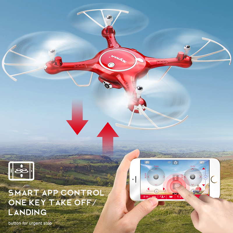SYMA X5UW Drone with WiFi Camera HD 7P Real-time Transmission FPV Quadcopter 2.4G 4CH RC Helicopter Dron Quadrocopter Drones 6