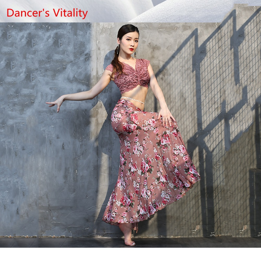 Belly Dance Practice Clothes SKIRT Sexy Clothing Oriental Dance Clothes Beginner Lace Sexy Fshtail Skirt