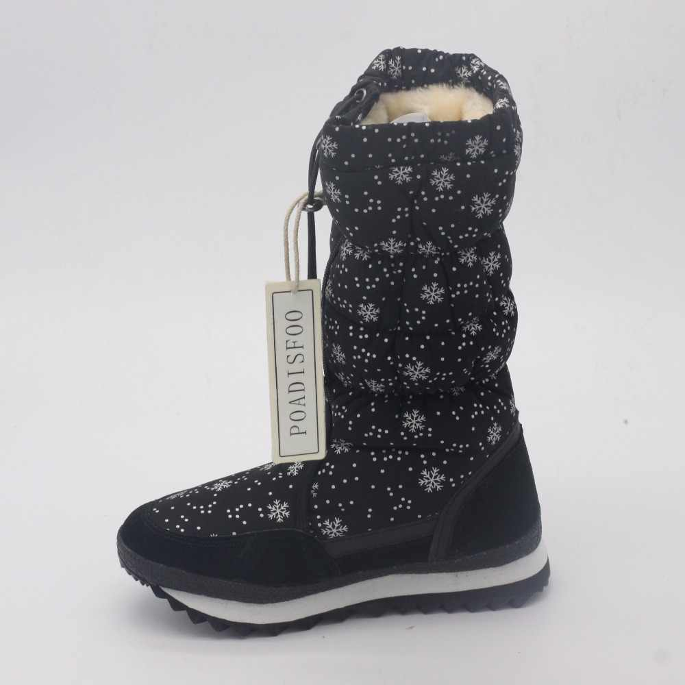 396ebd05120 ... POADISFOO 35-43 Women Boots Plush Warm Snow Boots cotton Winter Boots  Waterproof Snow Botas