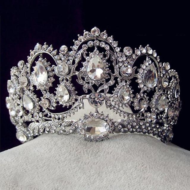 Acessórios Do Cabelo Do Casamento Tiaras Coroas De Cristal Strass Banhado A Ouro do vintage Nupcial Jóias 2016 Desgaste Da Cabeça Cheveux