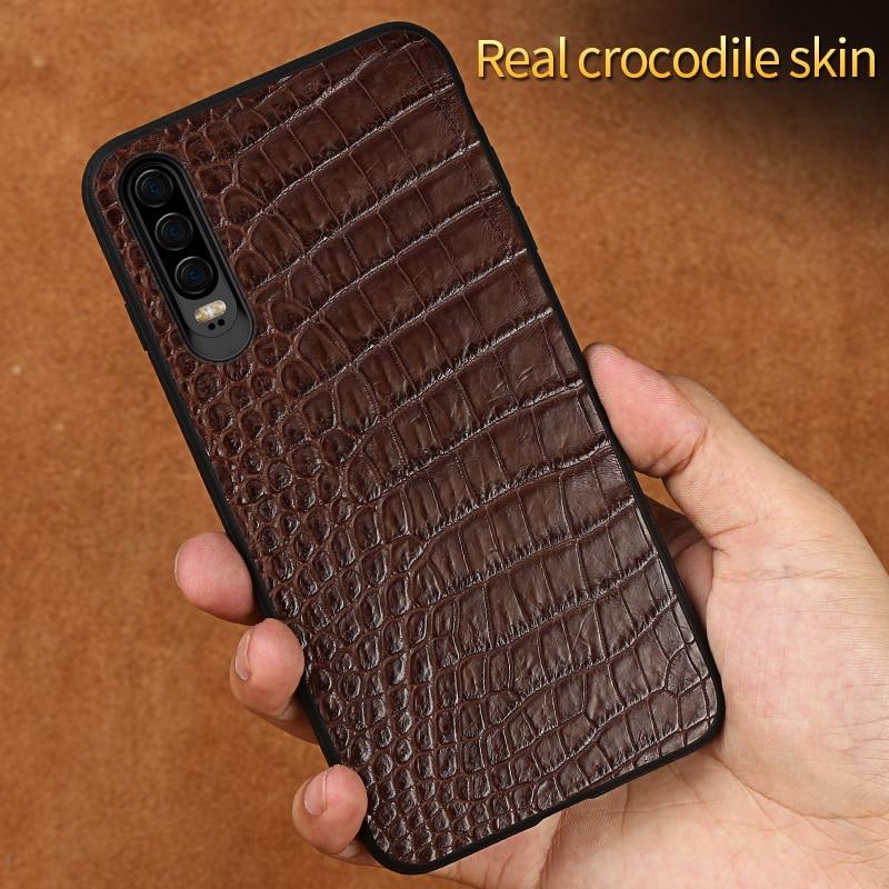 Étui pour huawei p30 pro en cuir de Crocodile de luxe le meilleur étui de téléphone portable pour huawei p20 p30Lite Mate 20 Coque