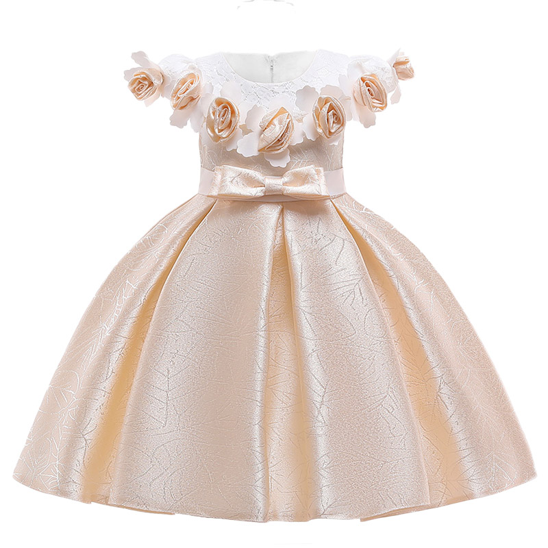 New 2019 Spring Carnival Costume   Flower     Girls     Dress   Print Princess Kids   Dresses   For   Girls   Clothes Party Wedding   Dress   Clothing