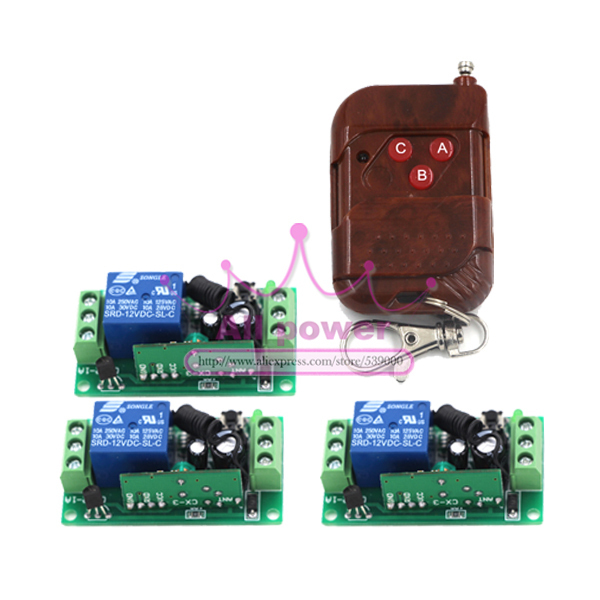 12v 1ch Rf Wireless Remote Control Receiver Momentary Switch Relay