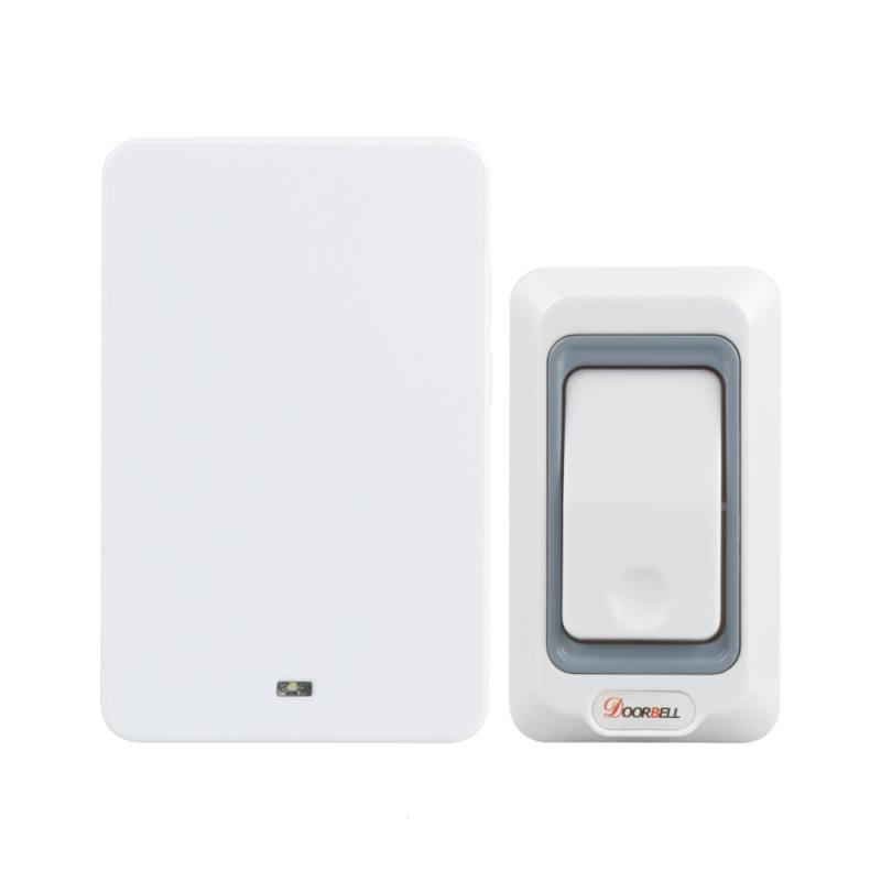 433MHz Wireless Doorbell Kit Waterproof Outdoor Transmitter and Indoor Receiver Smart Wireless Door bell Kits EU Plug AC110-220V wireless service call bell system popular in restaurant ce passed 433 92mhz full equipment watch pager 1 watch 7 call button