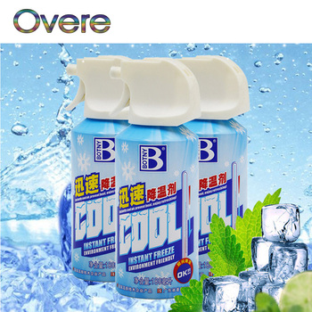 Overe 1Set Car Interior Dry Ice Air Cooling Spray Agent For Kia Rio Ceed Sportage 2017 Cerato Sorento Mazda CX-7 6 Mini Cooper image