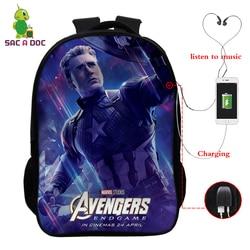 Avengers 16 Cal podróży torba szkolna dziewczyny chłopcy plecaki dzieci Plecak uczeń Plecak dzieci Bagpack Plecak Szkolny prezent 6