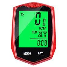 Wireless Bike Speedometer Waterproof Cycle Cycling Odometer LED Bicycle Computer cube cycle computer sl blackline
