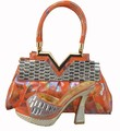 Italian Shoe With Matching Bag Set For Party And Wedding New Fashion Women Shoes And Bag To Match Set With Stones 1308-38