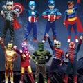 2016new fashion for kid boy child superman Costume Superhero Children's Halloween Cosplay Costumes Free shipping