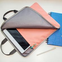 Kawaii Multi-functional Waterproof Portable A4 File Folder Organizer Bag Storage Handbags For iPad Office School Stationery