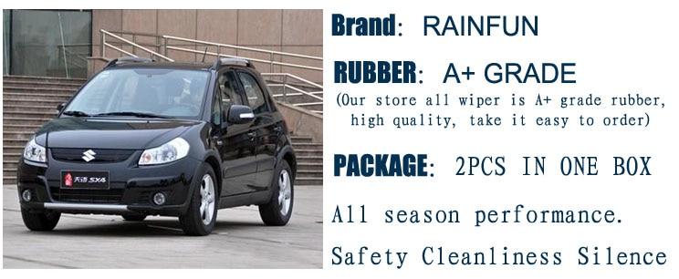 RAINFUN специальный автомобиль стеклоочистителя для 08-suzuki splash, 22+ 16 дюймов Автомобильный Стеклоочиститель Авто мягкий стеклоочиститель, 2 шт. в партии