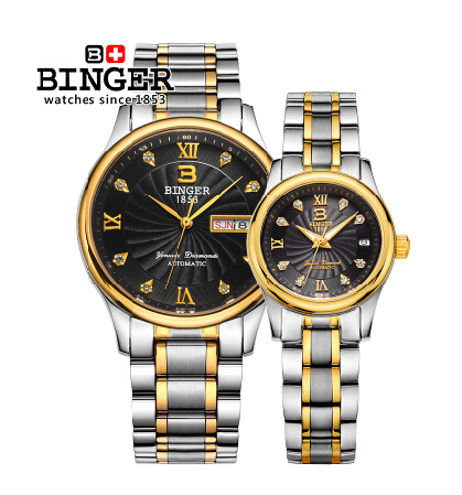 2016 Brand Binger Brand relogio Luxury Men Casual watches Unisex vintage couple Steel waterproof watch fashion