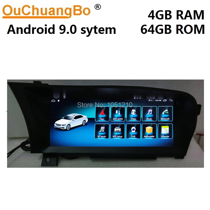 Ouchuangbo multimedia <font><b>gps</b></font> radio <font><b>for</b></font> <font><b>Mercedes</b></font> Benz S Class W221 S250 S300 S350 <font><b>S500</b></font> S600 10.25 inch Android 9.0 stereo 4GB+64GB image