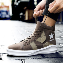 fashion Shoes Men Sneakers Men Boots SuperStar Hip Hop Shoessuede leather  lace up Footwear Men Casual. 3 Colors Available 3b4171b84e67