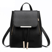 new Women's backpack PU Leather female bag girls student backpack fashion casual simple shoulder bag
