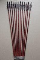 12 Stücke Handwerk Holz Pfeile Eaglecrest Türkei Feder für Longbow