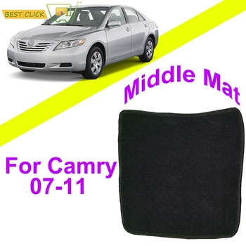 1pcs Car Floor Mat Mats For Toyota Camry 2007 - 2011 Nylon Black Carpet Carpets Liner Pad Bridge Middle Mat 2008 2009 2010 image