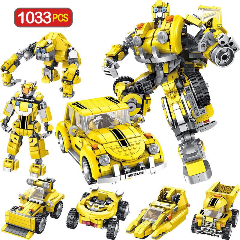 1033pcs Technic Model Blocks Legoingly Transformation Anime Series Robot Building Blocks Toy 2 Size Robot Car Toy for Boy1033pcs Technic Model Blocks Legoingly Transformation Anime Series Robot Building Blocks Toy 2 Size Robot Car Toy for Boy