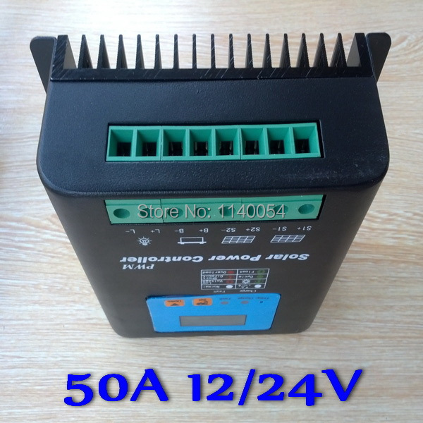 50A 12V/24V Auto-work Solar Charge Controller, 12V 24V Solar Battery Controller 50A Home use50A 12V/24V Auto-work Solar Charge Controller, 12V 24V Solar Battery Controller 50A Home use