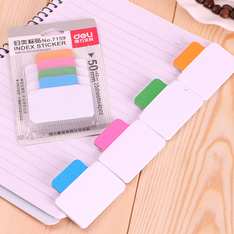 Cute Kawaii Memo Pad Post It Note Colored Index Stickers For Kids Gift Office School Supplies Student 3857