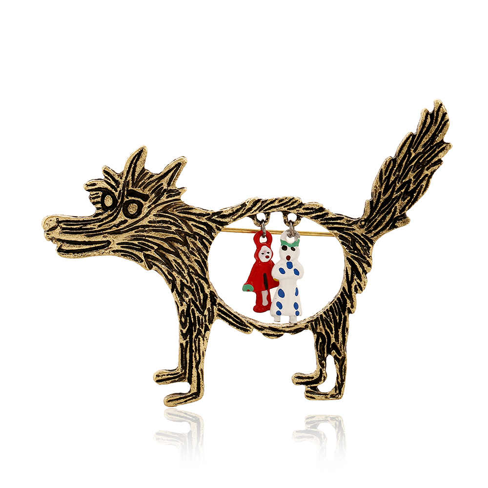 Best Deal Fashion Vintage Wolf Brooch Broches Jewelry ...