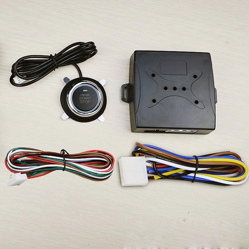Bouton poussoir universel démarrage + démarrage à distance du moteur pour la voiture à décalage automatique peut fonctionner avec la clé d'origine