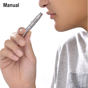 Image 3 - New Portable Ear & Nose Hair Trimmer Manual Stainless Steel Nose Hair Trimmer Removal No Battery Required Razor Nose Hair Cutter