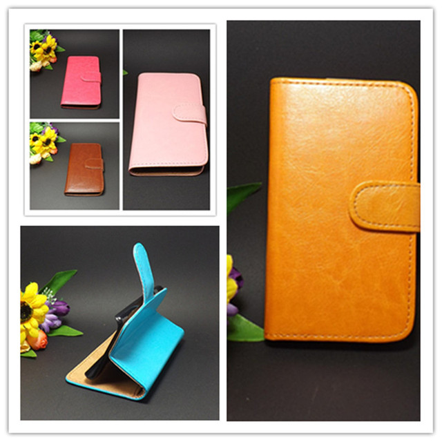 Crazy horse Flip leather case Credit Card Slots and stand function FOR ZTE Grand X V970 V970M U970  Free shipping