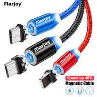 Marjay Magnetische USB Kabel Micro USB Typ C Für iPhone Kabel 1M 2M Schnelle Lade USB-C Typ- C Magnet Ladegerät Telefon Kabel Kabel