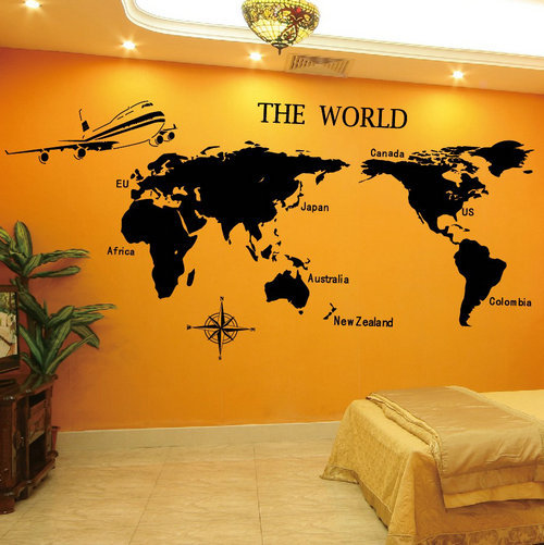 Wall Sticker World Map.1 Pc Wall Sticker World Map School Classroom Living Room Office