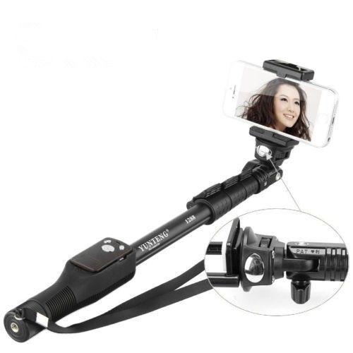 Yunteng YT 1288 Выдвижная селфи Палка с Bluetooth дистанционным затвором смартфонов клип монопод|extendable selfie stick|selfie stickselfie stick with bluetooth | АлиЭкспресс