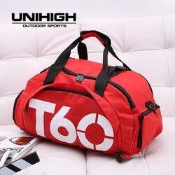 2019 Do Sexo Feminino saco de ginásio Mochilas para homens Sapatos De Fitness pacote Grande saco de Impressão Bolsa de Mulher Viajar saco de treinamento Masculino de sacos de desporto