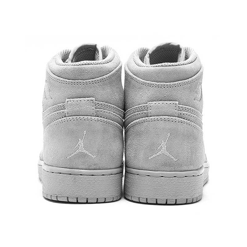 3eb31be6f80 ... Orriginal NIKE AIR JORDAN 1 RETRO HIGH SUEDE AJ1 Suede Cool Gray Men's  Basketball Shoes Sneakers ...
