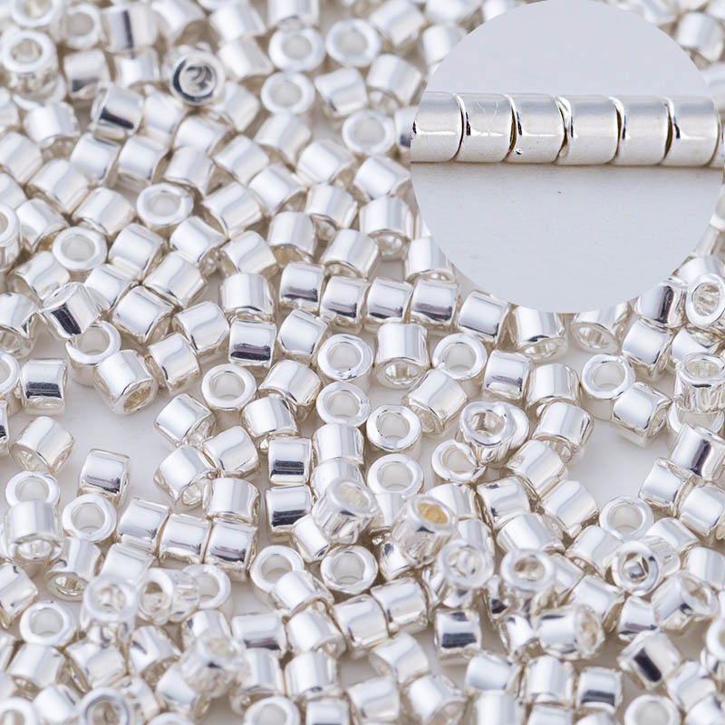 Taidian Silver Plated Miyuki Delica beads For Bead work DB551 11/0 3grams/lot approx 600pieces